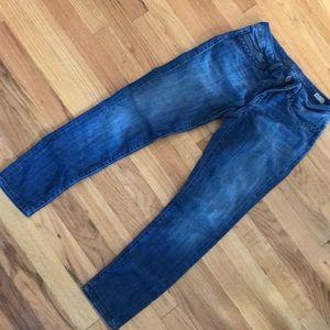 b80ee4253fa ... Mavi Alexa Petite 26 Capri Blue Jeans Braided ...